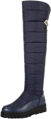 ZHRUI Bottes à à à la Cheville pour Les Les dames, Bottes Plates à la Mode pour Femmes (Couleuré   Bleu, Taille   3.5 UK) 367