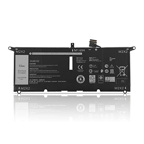 K KYUER 52WH DXGH8 Laptop Battery for Dell XPS 13 9370 P82G001 7390 9380 2019 Inspiron 13 7000 7390 7391 7490 5390 5391 Dell Latitude 3301 E3301 Vostro 13 5000 5390 5391 Convertible Notebook Battery