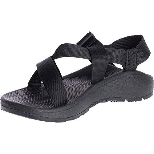 Chaco Men's MEGA Z Cloud Sport Sandal, Solid Black, 12 M US