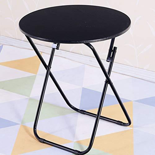 Ronde opvouwbare speeltafel, inklapbaar, van hout, voor buiten, draagbaar, picknick, opvouwbare tafels voor camping, picknick, 60 cm x 60 cm zwart.