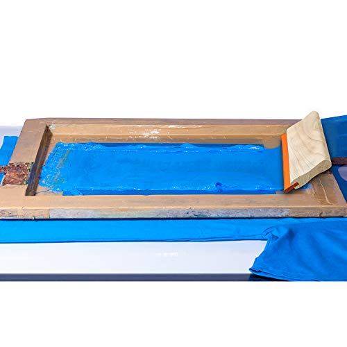Caydo 13.7 Inch Large Screen Printing Squeegee, 75 Durometer Wooden Ink Scraper