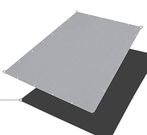 Alion Home Sun Shade Sail - Straight Edge Shade Sail - Shade Cloth for Patio, Pergola, Playground Shade Sails, Backyard Sails, Sail Awning, Deck Shade Sail (8 x 12 FT, Grey)