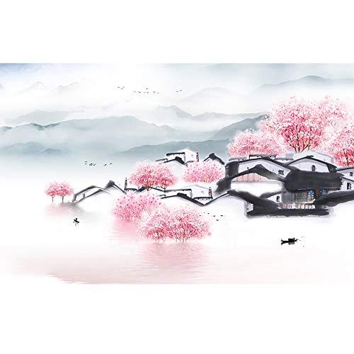 Grote Oosterse Schilderstijl Behang Chinese Stijl Inkt Schilderij Landschap Muur Stickers Art Decor Voor Woonkamer Kantoor Slaapkamer Drie Maten,C,L
