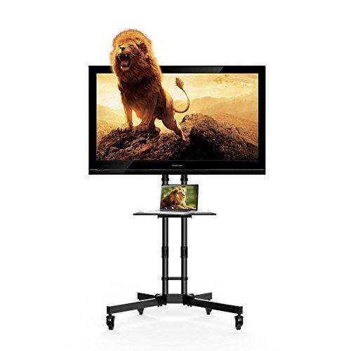 Fleximounts C06 TV Ständer Fernsehtisch Standfuss Standfuß Halterung Für 32-65 Zoll Höhenverstellbar Fernsehstand LED Fernseher Stand Flachbildschirm Aufsatz Möbel Rack Tischständer Universal