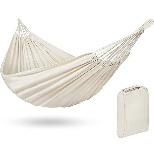 REFUEL Hamaca doble al aire libre camping viajes caza hamaca colgante jardín columpio silla balancoire, blanco