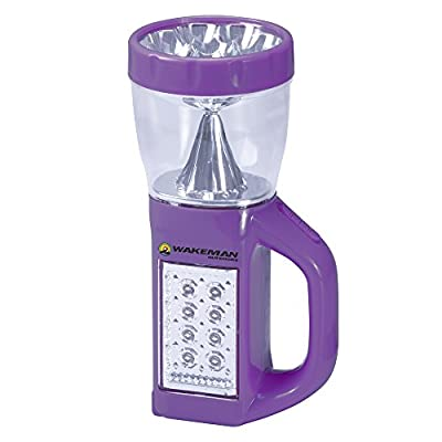 Wakeman 3 in 1 LED Lantern, Flashlight and Panel Light, Lightweight Camping Lantern Outdoors (for Camping Hiking Reading and Emergency) (Purple), 75-CL1008