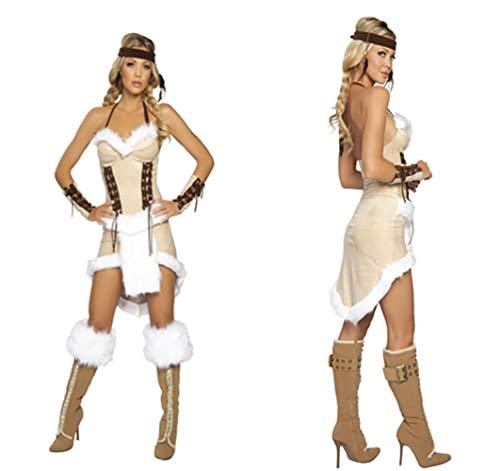 Disfraz de indio indio de Navidad indgena para cosplay de Halloween, disfraz de Navidad, ver fotos, XXL