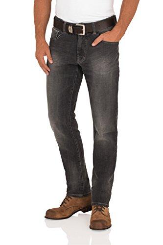 Paddocks ✮s heren jeans jeansbroek Scott Tight fit Low Rise wassung 4218 Black Dark Stone Used W 32-38