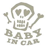 imoninn BABY in car ステッカー 【パッケージ版】 No.31 ガイコツさん (グレー色)