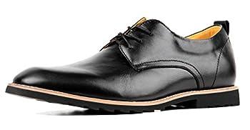 iloveSIA Men s Oxford Fashion Leather Shoes Black US Size 9