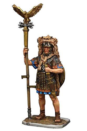 Oude Romeinse krijger standbeeld sculptuur, Romeinse legionair adelaar vlag drager model metalen standbeeld kantoor wijnkast huis woonkamer decoratie,Color model