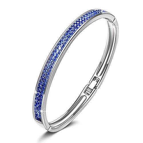 Kate Lynn - Lifespring - Armband, Kristalle von Österreich, Saphire, Geschenk für Frauen Weihnachten, Elegante Schmuck-Geschenkbox
