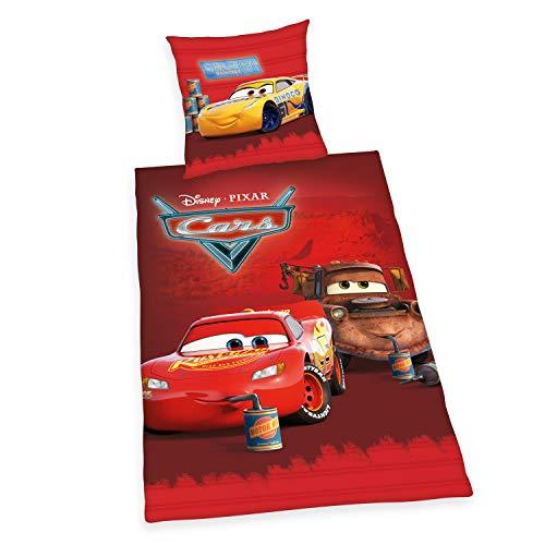 Herding Disney's Cars Bettwäsche-Set, Cotton, rot, Deutsche Größe