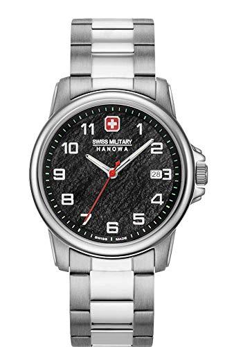 Swiss Military Hanowa Unisex Erwachsene Analog Quarz Uhr mit Edelstahl Armband 06-5231.7.04.007.10
