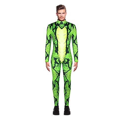 Leezeshaw - Costume da Scheletro di Serpente, da Uomo, per Halloween, 3D, in Lycra, per Adulti, Taglie M-XXL