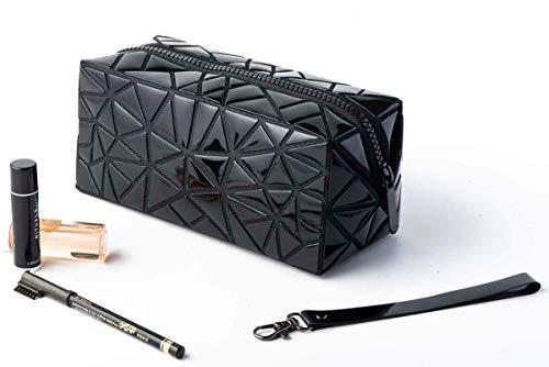 HappyU modische Kosmetiktasche klein für Damen mit Henkel | Make Up-Reise- Organizer für Handtasche und Reisen | faltbare Kulturbeutel Geburtstagsgeschenk für Frauen