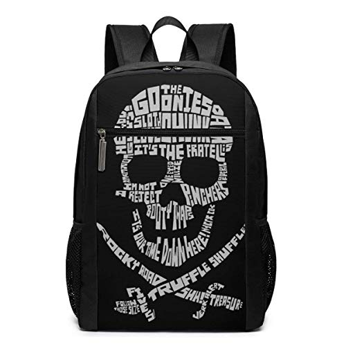 Lawenp Goonies Skull Goonies Backpack 17 Inch Laptop Bags College School Backpack Casual Daypack for Travel
