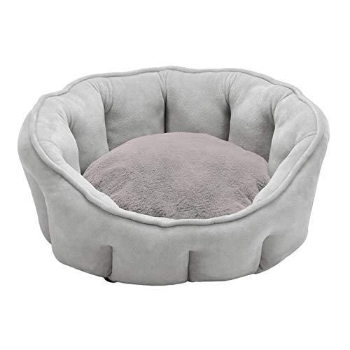 MERIGLARE Perro Mascota Gato Chennel Cama Relajante Nido Juguete de Peluche Suave Y Cálido - Gris