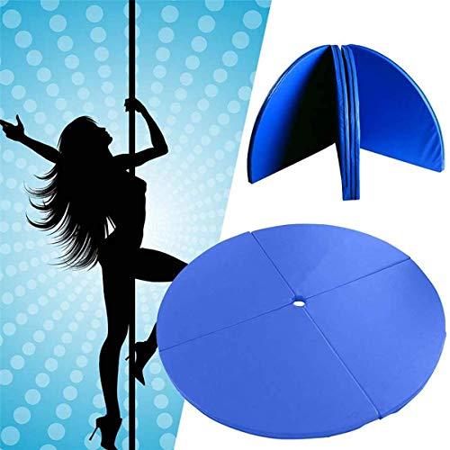 4ft Klapp Stripper Tanzstange Sicherheit Yoga Matte Boden Home Gym Übung Fitness Pad Tragbare runde Tanzmatten Training Body Protect Pad - 3/5 / 10cm, blau 10cm dick