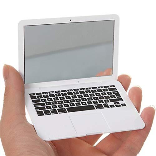PYBH Nette VERFASSUNG Mini-Tasche Laptop-Art Klarglas Frauen Kosmetische Schönheits-Spiegel-Mode Notebook-Formular Make-up Spiegel Buch (Farbe : Weiß)