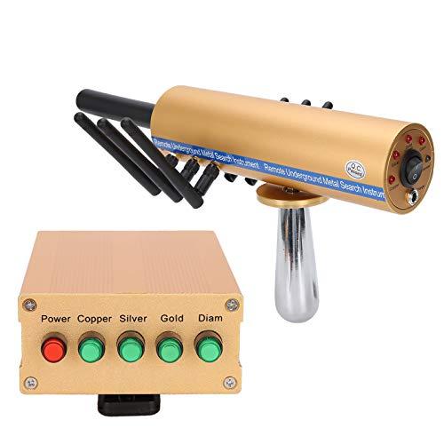 Shipenophy Detector de oro procesador microeléctrico Detector de metales Detector de diamantes con una caja de transporte de plástico para(Reglamentos británicos (100-240V))