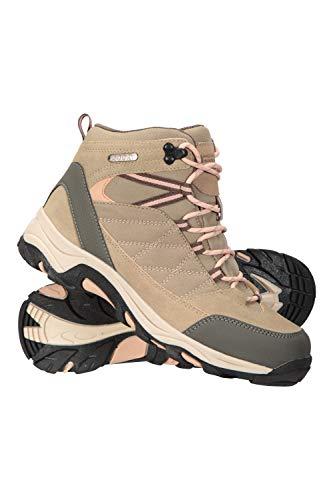 Mountain Warehouse Rapid Wasserfeste Stiefel für Damen - Wanderschuhe aus Wildleder und Netzstoff, Schuhe, Wanderstiefel mit Gummilaufsohle - Für Reisen, Camping Beige 38 EU
