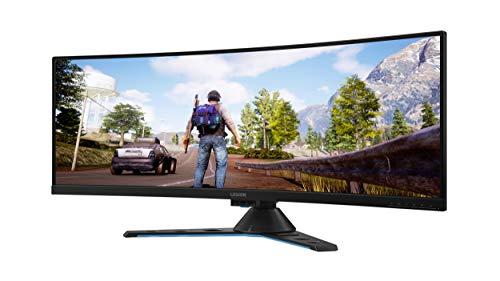 """Lenovo Legion Y44w - Monitor Gaming Curvo 43.4"""" UHD (FreeSync Pro, 144 Hz, 4 ms, HDMI+DP+USB Type-C, Regulable en altura) Con altavoces, Color Metal Negro"""