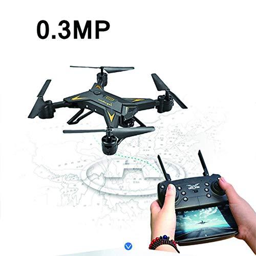 Mini-Remote-Drohne, Faltbarer Quadcopter, RC-Hubschrauber-Drohne mit Kamera HD 1080P WiFi FPV Selbstauslöser-Drohne-Anfänger,Schwarz,5MP