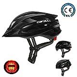 Cairbull Hommes/Femmes Casque de Cyclisme Adult Mountain Road Casque de vélo 55-61cm Casques VTT et VTC Equipé de lumière...