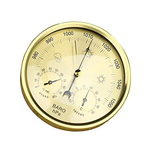 circulor Barometer Analog, Thermometer Hygrometer 3-in-1-Innen- Und Außenthermometer, Hygrometer, Barometer Für Zuhause, Balkon