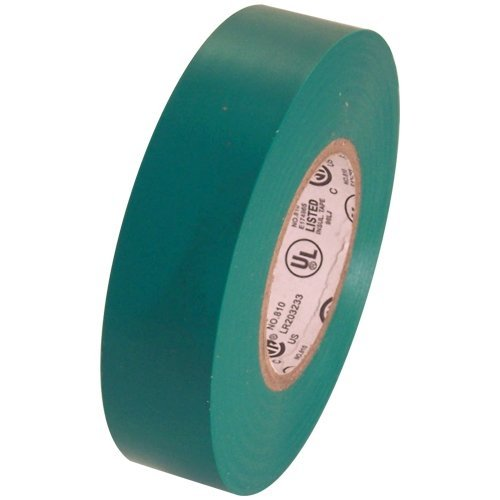 Electrical Tape 3/4' x 66' UL/CSA 1 roll pack several colors., Green
