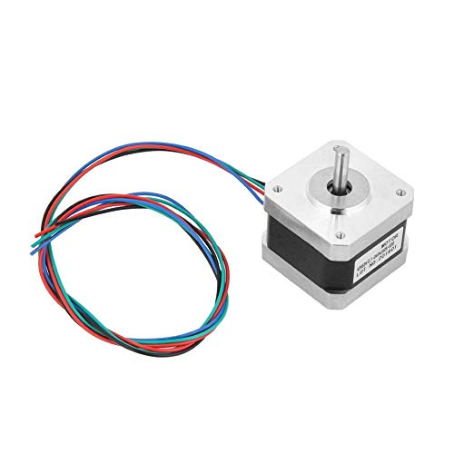 WY-YAN Stepper Motor, 5pcs 12V Motor 32N.cm 4-Wire 1.8 Degree 2-Phase Stepper Motor with Bipolar Motor Cables for 3D Printer/CNC