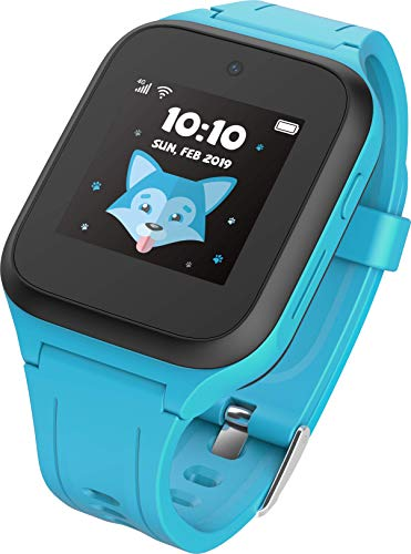 TCL Kinder Smartwatch 'MT40X' MOVETIME mit Nano SIM-Karte, GPS, Kamera und Notruftaste, Blau inkl. Vodafone SIM-Karte und 40€ Cashback