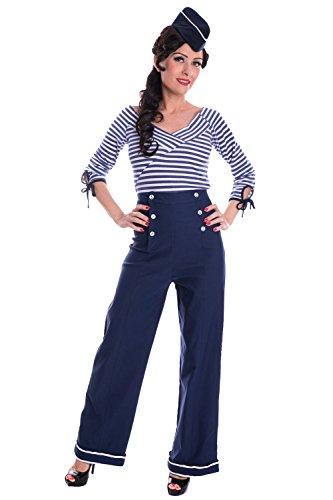 SugarShock Sailor Marlene Hose Retro Matrosen Rockabilly Marlenehose
