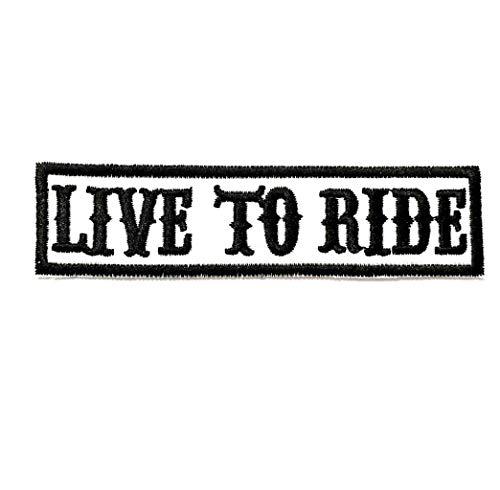 "Kustom Factory - Toppa con motivo ""Live to Ride"""