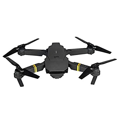 DERCLIVE E58 2.4GHz RC Drone Wifi FPV 1080P Camera Folding Drone with Carry Bag,Black