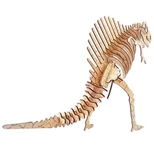 Healifty Rompecabezas de madera 3D Simulación animal dinosaurio Mestiere Kit Rompecabezas Montaje DIY Modelo Juguete para Niños Adultos