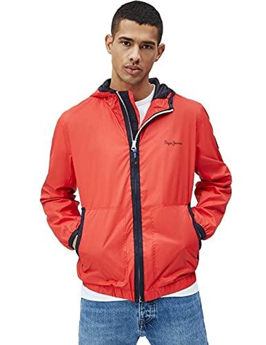 Pepe Jeans Robert Chaqueta, 244marzo Red, XL para Hombre