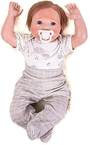 Hongge Reborn Baby Doll, Naturgetreue Silikon-Vinyl-Reborn-Puppe, Das Beste Weißnachtsgeburtstagsgeschenk 46cm