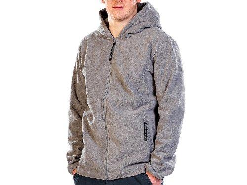 Pearl Outdoor Veste Polaire pour Homme : Veste en Polaire à Capuche pour Homme, Taille XL, Gris (Veste d'extérieur en Polaire)
