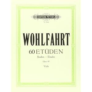 60 Etüden für Violine solo op. 45: für Viola bearbeitet