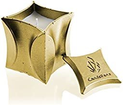 Candellana Candlefort Candlefort شمعدان الخرسانة - حديث II - الذهب الكلاسيكي ، الرائحة: له