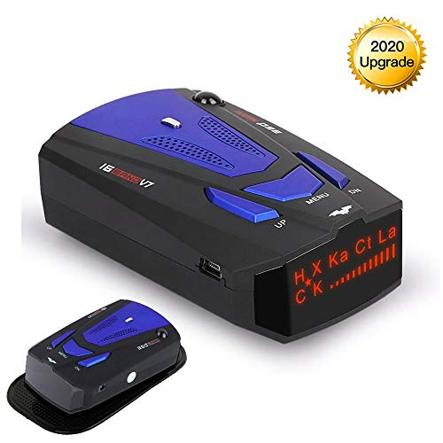 RICHOYY Radar Detector, Voice Prompt Speed, City/Highway Mode Radar Detector for Cars (FCC Certification)