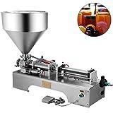 VEVOR Máquina de Llenado de Líquidos de 50-500 ml 0-30 Botellas/min Máquina de Llenado de Pasta Neumática para Pasta Líquida