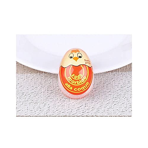 Liu Yu·casa creativa Temporizador de Cocina 2 Packs Soft Huevo Hervido Color Cambio Temporizador Herramienta de Cocina Herramientas de Resina HuevoHuevos Hard-Hervidos Artefacto, Chick Orange,Large