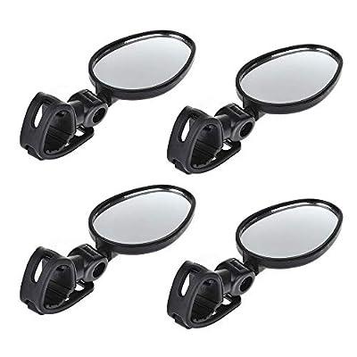 Gobesty Fahrradspiegel, Armband Fahrrad Spiegel Rückspiegel, 360°Drehspiegel Rückspiegel, Konvexen Reflektor Spiegel, Fahrrad Zubehör Sicherer Rückspiegel für Mountainbikes, Geländefahrzeuge Usw