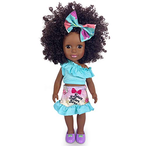 Schwarze Puppen Mode afrikanische Mädchenpuppen Spielen Puppe 14 Zoll für Kinder