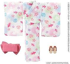 ピコニーモ用 1/12 浴衣set~金魚と水風船~ 月白色 (ドール用)