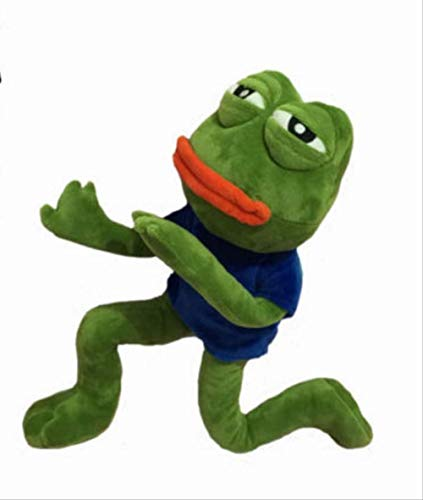 hhxiao Plush Toy 42cm Magic Expression Pepe The Frog Sad Frog Collection Plush Stuffed Toys Christmas Birthday Gifts
