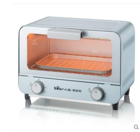 Onbekend 9 L mini-oven, 800 W kleine elektrische oven voor slaapzaal, kantoor, 8 koekjes, pasta, kleine broodroooven met bakvormen, roestvrij staal, mintgroen